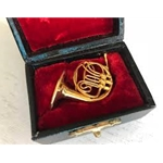 Mini French Horn With Case