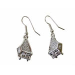 Silver Grand Piano Earrings