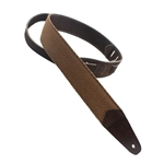 Guitar Strap - Cotton/Leather 2""