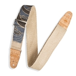 Levy's Leathers MH8P Guitar Strap - Hemp w/ Natural Cork Ends