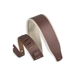 "Guitar Strap - Top Grain Leather w/ Padding 3"" Wide"